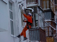 промышленный альпинизм мытье окон